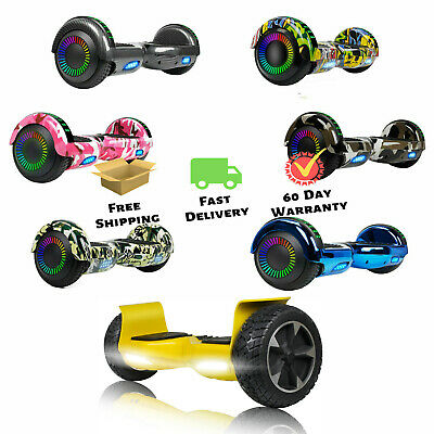 """Self-Balancing Scooter 6.5""""/8.5'' Hoverboard W/ Bluetooth LED Bag Christmas Gift"""