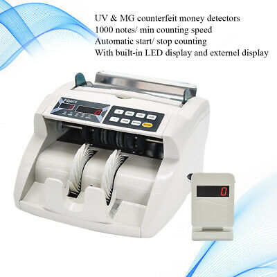 Money Bill Currency Counter Counting Device Cash Counterfeit Detector UV MG X7X8
