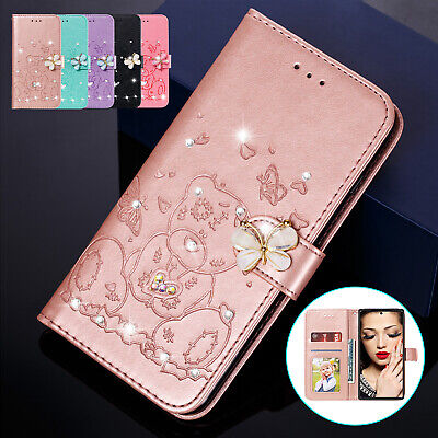 For Samsung Galaxy S10 Plus S8 S9 Note10 Case Magnetic Leather Wallet Flip Cover