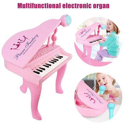UK Kids Electronic Piano 25 Keyboards Organ Musical Instrument Toy with Mic