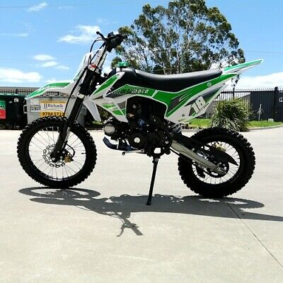 125CC PIT MOTOR DIRT BIKE TRAIL MOTOCROSS PRO ELE-START 14/17 BIG WHEEL Green