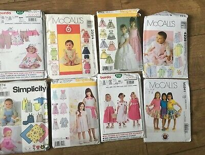 Bundle, lot of Eight patterns, All Have Been Opened and Cut. Contents Unchecked