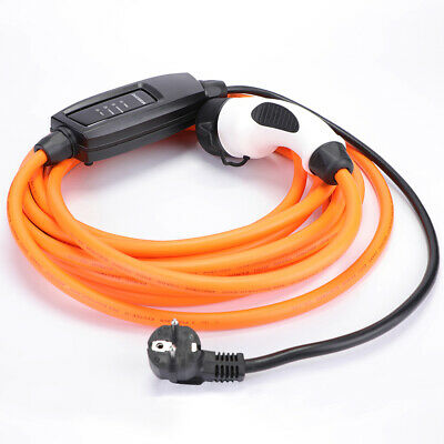 MG ZS EV charging cable charger EU Schuko to Type 2, 16 amp, 5m