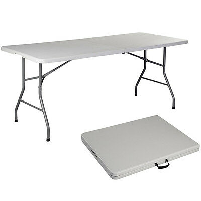 Folding Table 6' Portable Plastic Indoor Outdoor Picnic Party Camping Tables