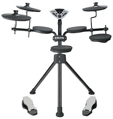 NUX DM-1 Digital Electronic Compact Complete Drum Kit Set with 20 Kit Variations