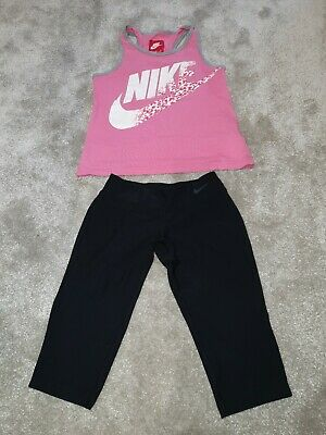 Girls Nike Vest & Dry-fit Running Leggings,  Age 6-8