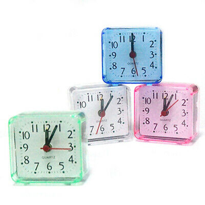 Bed Travel Mini Portable Compact Square Quartz Beep Table Silent Alarm Clock