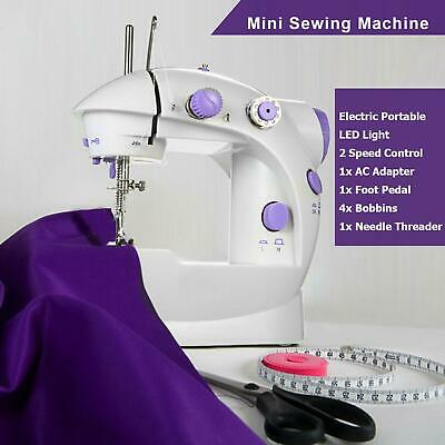 Portable Electric Sewing Machine Overlock with 2 Speed Foot Pedal, Mains Powered