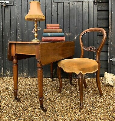 Elegant Victorian Mahogany Pembroke Drop Leaf Table