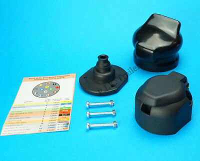 13 Pin Towing Socket with PVC Cover & Gasket Seal for Trailer & Caravan