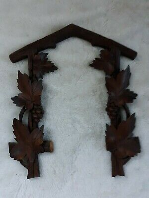Large Antique Black Forest Cuckoo Clock German Germany Accents Parts Only
