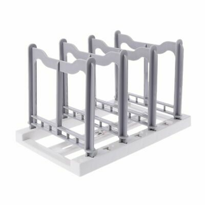 Detachable Pot Pan Lid Holder Rack Chopping Cutting Board Plate Stand Kitchen DD