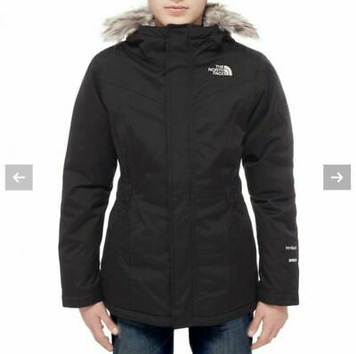 The North Face Girls Greenland Down Black Parka Size M 10-12 BNWT RRP £317