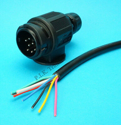 10 Metres of 8 Core Cable with 8 Pin Plug to fit into a 13 Pin Socket - Trailer