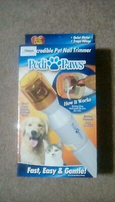 NEW Pedi Paws Nail Trimmer Grinder  Clipper For Pet Dog or cat with batteries.