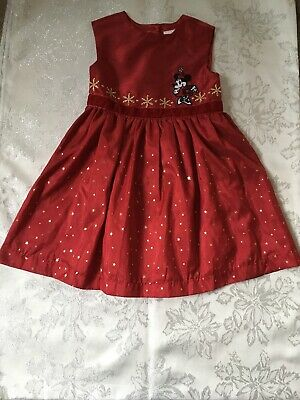 Pretty - Disney Store - Minnie Mouse - Red Christmas Dress - Age 4