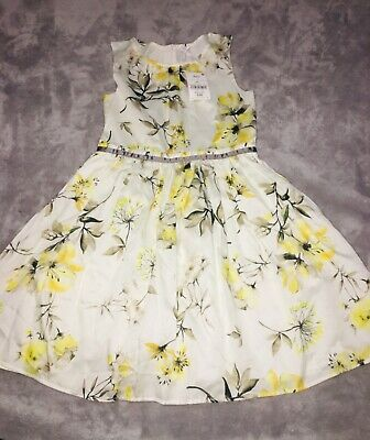 Girls Next Yellow floral dress new with tags age 9 years