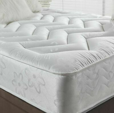 "10"" Deep Quilted Orthopeadic Sprung Mattress 3ft single 4ft 4ft6 Double 5ft King"
