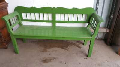 1920's Painted Pine Hungarian Bench