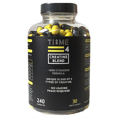 Time 4 Nutrition - Creatine Blend - 240 Caps - BBE:10/2019