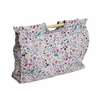 HobbyGift Knitting Craft Bag with Wooden Handles - Spring Time design