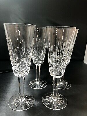 Set Of 4 Waterford Crystal Tall Wine Glasses 5oz
