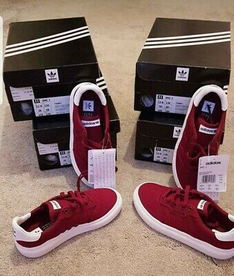 Adidas 3MC Kids Trainers/Shoes UK 12K Burgundy/White  New Offical £25 Free P&P!!