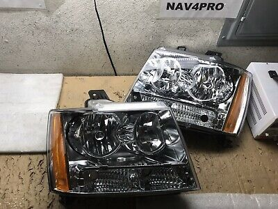 2007-2014 Chevrolet Avalanche Suburban Tahoe Chrome Halogen Headlight Pair #H667