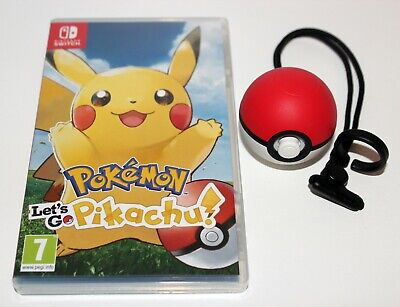 Pokemon Lets Go Pikachu Nintendo Switch Game With Pokeball Plus - Fast Delivery