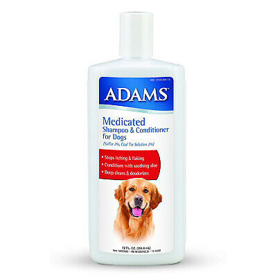 Adams MEDICATED SHAMPOO & CONDITIONER for DOGS Stop Itching & Flaking Deodorizes
