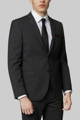 $450 Dkny 36R men's Gray Wool Slim Fit 2 Button Suit Jacket Blazer Sport Coat