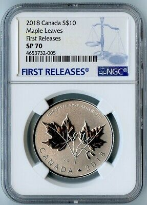 2018 Canada Ngc First Releases Sp70 Silver Maple Leaves S$10! Beauty!