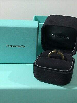 Authentic Tiffany T Square Ring 18kt Yellow
