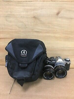 Canon AE-1 Program 35mm Camera with 50mm f/1.8 FD Lens Good Working Conditions