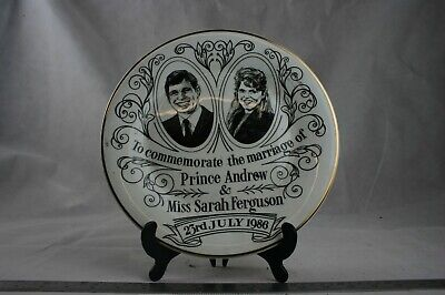 Prince Andrew, Sarah Ferguson Marriage Commemorative Plate 5292