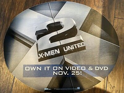 X2 X-Men United Video & DVD Promotional Floor Sticker EXTREMELY RARE