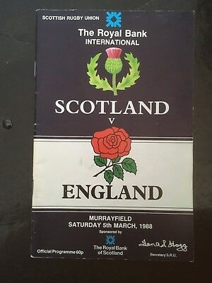 0634 - Scotland v England 1988 Rugby Programme - SRU RFU March 5th 05/03/1988