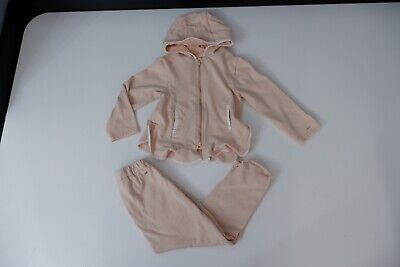 Chloe Peach Tracksuit Age 3 Years Hoodie & Bottoms Vgc