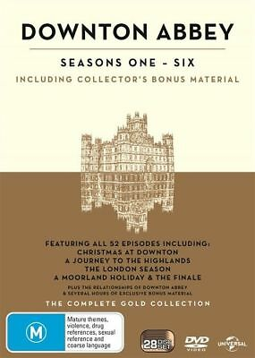 Downton Abbey : Season 1-6 The Complete Gold Collection (DVD, 2017, 28-Disc Set)