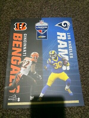 Nfl London Games 2019 Wembley Cincinnati Bengals Vs Los Angeles Rams Programmme