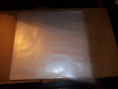 "(1) Record PLUS 100 ct 12"" 2 mil Clear Plastic Outer Jackets For LP Album Vinyl"