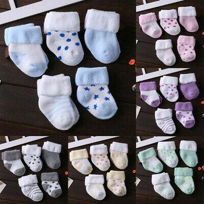 5 pairs 0-3year Baby Boy Girl Infant Toddler Winter Warm Soft Cotton ankle Socks