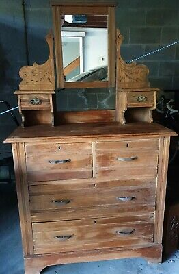 Antique Dressing table with mirror and draws