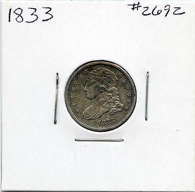 1833 10C Capped Bust Silver Dime. Circulated. Lot #2466