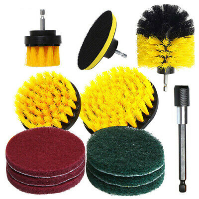 NEW 12pcs Drill Brush Tub Cleaner Grout Power Scrubber Cleaning Combo Tool Kit