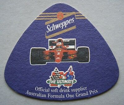 Schweppes Official Soft Drink Supplier Australia Formula One Grand Prix Coaster