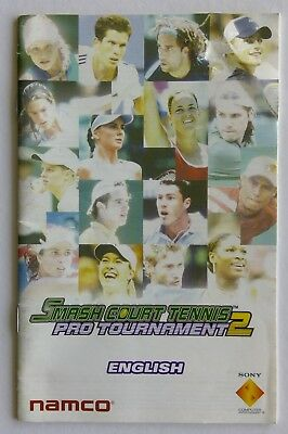 Smash Court Tennis Pro Tournament 2 PlayStation Manual Only Instruction Booklet