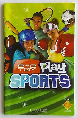 Eye Toy Play Sports Sony PlayStation Manual Only Instruction Booklet