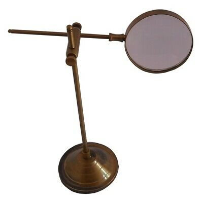 Antique Adjustable Magnifier with stand Marine Nautical Brass replica