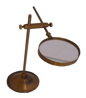 NAUTICAL Antique Adjustable Magnifier with stand Marine Nautical Brass replica